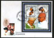 Mozambique 2002 Mahatma Gandhi of India Mother Teresa Pope M/s FDC RARE # 8217