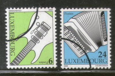 Luxembourg 2000 Musical Instrument Guitar & Accordion Sc 1045-46 Specimen MNH # 831