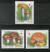 Finland 1980 Edible Mushroom Fungi Plant Flora Red Cross Sc B221-23 MNH # 841