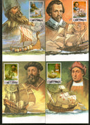 St. Thomas & Prince Is. 1982 Explorers & Their ships Transports Max Cards # 8439