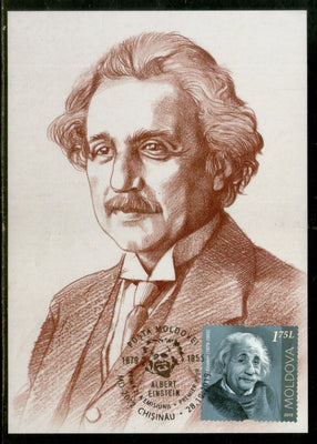 Moldova 2019 Albert Einstein Physics Science Nobel Prize Winner Max Card # 8457