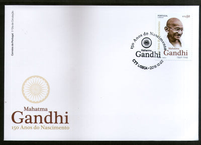 Portugal 2019 Mahatma Gandhi of India 150th Birth Anniversary 1v FDC # 8459