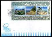 Estonia 2001 Joints Issue Baltic Coast Landscapes Beach Sc 424 M/s FDC # 8461