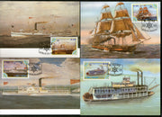 St. Thomas & Prince Is. 1984 Ships Int'al Maritime Transports Max Cards # 8483