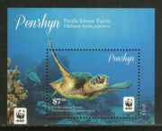 Penrhyn Islands 2014 WWF Pacific Green Turtle Reptiles Sc 545 M/s MNH # 84