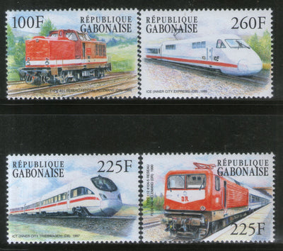 Gabon 2000 Locomotives Railway Train Transport Sc 1024-27 MNH # 851