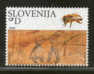 Slovenia 2006 Painted Beehive Painting Honey Bee Sc 668 Specimen MNH # 852