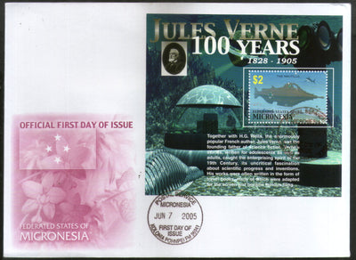 Micronesia 2005 Centenary of Jules Verne Writer Sc 650 M/s FDC # 9034