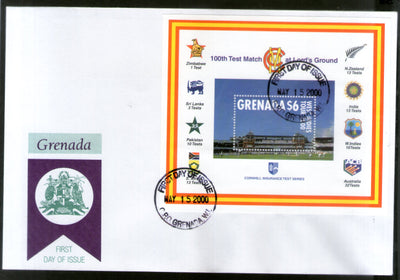 Grenada 2000 100th Test March at Lord's Cricket Ground Sc 2943 M/s FDC # 9042