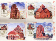 India 2020 Terracotta Temples Architecture Hindu Mythology Set of 7 Max Cards # 9059