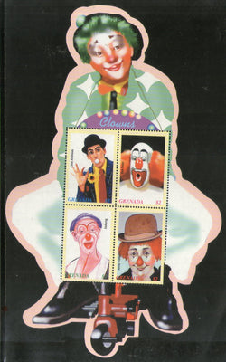 Grenada 2003 Circus Clowns Odd Shaped M/s Sc 3375 MNH # 9184