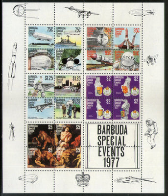Barbuda 1977 Special Events Sc 222e Sheetlet MNH # 9253
