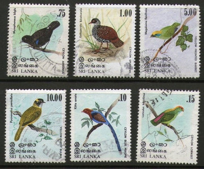 Sri Lanka 1979 Birds Blue Magpie Lorikeet Arrenga Spurfoul Barbet Bulbul Used # 925