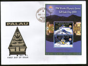 Palau 2002 Winter Olympic Games Salt Lake Skiing Sc 679a M/s FDC # 9339