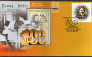 India 2019 Mahatma Gandhi as Editor of Young India Newspaper Kolkata Special Cover # 9342