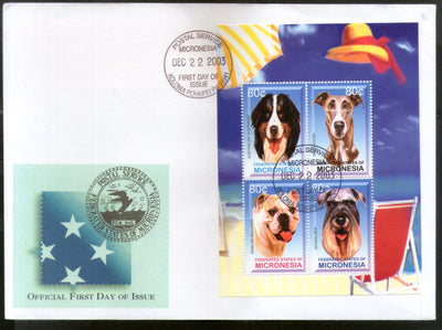 Micronesia 2003 Breeds of Dogs Pet Animals Fauna Sc 571 M/s FDC # 9365