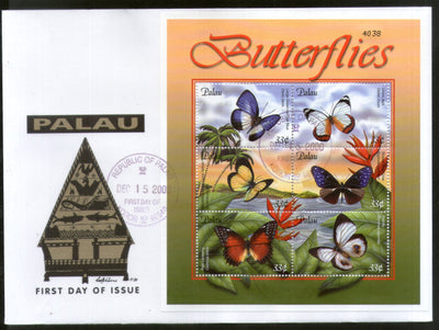 Palau 2000 Butterfly Insect Wildlife Animal Fauna Sc 598 Sheetlet FDC # 9367