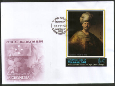 Micronesia 2006 Paintings by Rembrandt Art Sc 693 M/s FDC # 9393