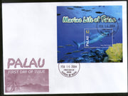 Palau 2004 Grey Reef Shark Fishes Marine Life Animals Sc 758 M/s FDC # 9396