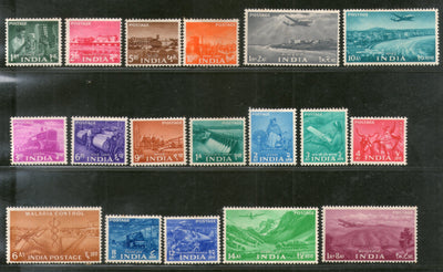 India 1955 2nd Definitive Series Five Year Plan - Complete Set of 18v Phila-D20-37 MH # 93