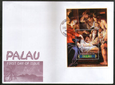 Palau 2004 Christmas Religious Painting Madonna & Child  Sc 745 M/s FDC # 9417