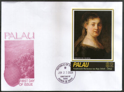 Palau 2006 Paintings by Rembrandt Art Sc 859 M/s FDC # 9466