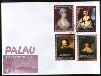 Palau 2004 Paintings by Goya Rembrandt Art Sc 752-55 FDC # 9470