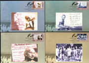India 2005 Mahatma Gandhi Dandi March Set of 4 Max Cards Presentation Pack # 9472