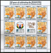Central African Republic 2019 Mahatma Gandhi of India 150th Birth Anniversary Full Sheet MNH # 9476B