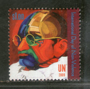 United Nations 2009 Mahatma Gandhi of India Non-Violence Sc 996 MNH # 947