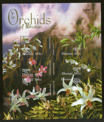 Bhutan 2002 Orchids of Bhutan Flower Tree Plant Sc 1371 Sheetlet MNH # 9484