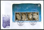 Palau 2007 Princess Diana Spencer Royal Family Sc 895 Sheetlet FDC # 9490