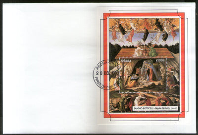 Ghana 1997 Christmas Mystic Nativity Painting by Boiticelli Sc 1649 M/s FDC # 9501