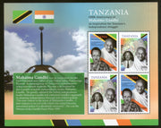Tanzania 2019 Mahatma Gandhi of India 150th Birth Anniversary Flag M/s MNH # 9661