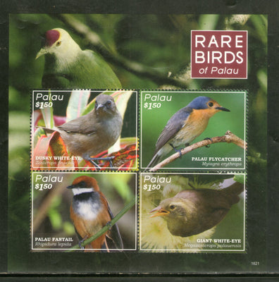 Palau 2016 Rare Birds Wildlife Fauna Sheetlet MNH # 9678