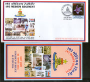 India 2016 Medium Regiment Coat of Arms Military APO Cover # 167 - Phil India Stamps