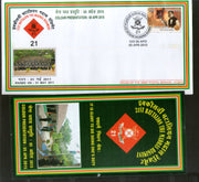India 2015 Battalion the Madras Regiment Coat of Arms Military APO Cover # 184 - Phil India Stamps
