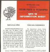 India 1979 IAEA Conference Atomic Energy Phila-801 Cancelled Folder