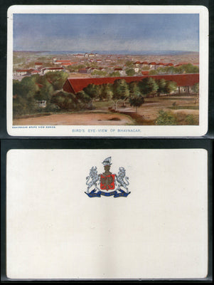 India Bhavnagar State Bird's Eye View Architecture Vintage View Picture Post Card # 18