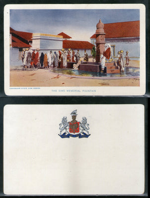India Bhavnagar State Sims Memorial Fountain Vintage View Picture Post Card # 7