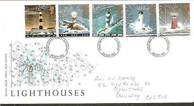 Great Britain 1998 Lighthouses Architecture 5v FDC