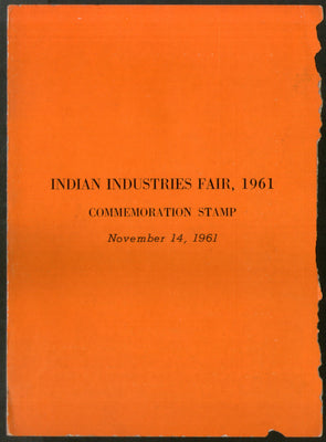 India 1961 Indian Industries Fair New Delhi Phila-360 Blank Folder