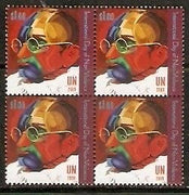 United Nations 2009 Mahatma Gandhi of India Non-Violence BLK/4 MNH