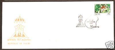 Nauru 1997 Indipex-97 India Special Cover & Cancellation RARE