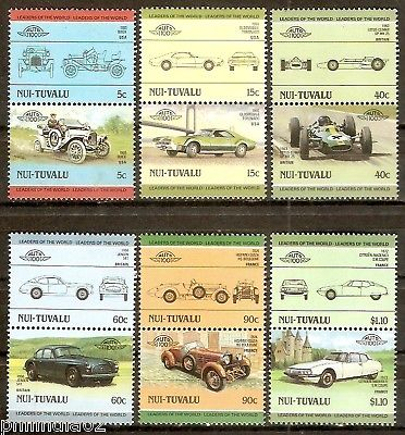 Tuvalu - Nui 1985 Cars Automobile Transport 12v MNH # 3170