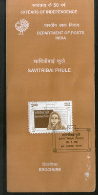 India 1998 Savitribai Phule Phila-1614 Cancelled Folder