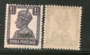 India CHAMBA State KG VI 1½ An Postage Stamp SG 112 / Sc 93 Cat. £4 MNH - Phil India Stamps