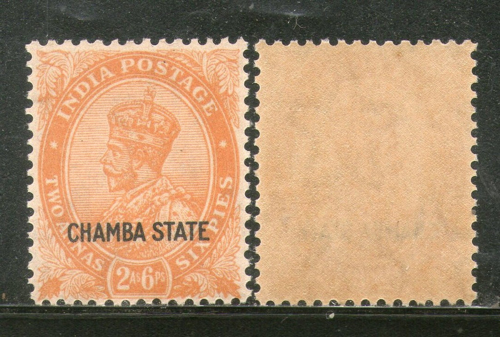 India CHAMBA State 2½ As KG V SG 69 / Sc 66 Postage Stamp Cat. £8 MNH - Phil India Stamps