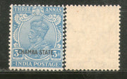 India Chamba State 3As KG V Postage Stamp SG 70 / Sc 67 1v MNH - Phil India Stamps