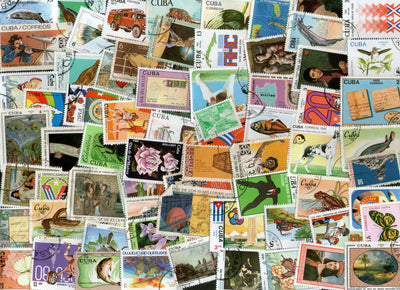 Cuba 70 Diff. Used Stamps on Olympic Painting Birds Animal Dog Cats Flowers Fish - Phil India Stamps